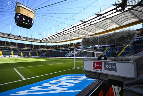 16th May 2020, Commerzbank-Arena, Frankfurt, Germany; Bundesliga football, Eintracht Frankfurt versus Borussia Moenchangladbach; An empty stadium before the match starts