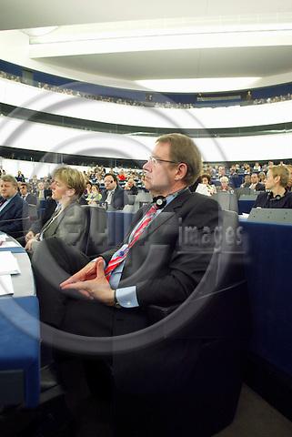 STRASBOURG - FRANCE  -20 JULY 2004--Mr. Poul NyrupÊRASMUSSEN, Danish MEP, PES Group.--PHOTO: ERIK LUNTANG / EUP-IMAGES