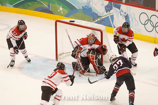 Trent Nelson  |  The Salt Lake Tribune.USA vs. Canada, gold medal game, women's Ice Hockey at the Canada Hockey Place, Vancouver, XXI Olympic Winter Games, Thursday, February 25, 2010.
