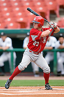 Chattanooga Lookouts second baseman Drew Anderson stands in at the plate versus the Birmingham Barons at Hoover Metropolitan Stadium in Birmingham, AL, Sunday, August 20, 2006.