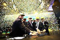 São Paulo,SP - 16.06.2014 -MINISTRO GUIDO MANTEGA NA BOVESPA  -O ministro da Fazendo Guido Mantega abre pregão na Bolsa de Valores do Esatado de São Paulo (Bovespa) nesta manhã de segunda feira(16) durante o lançamento do Programa de Estimulo ao Mercado de Capitais  - (Foto: Aloisio Mauricio / Brazil Photo Press)