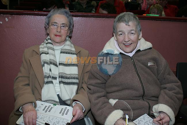 Ardee Bingo Mary Callan and Bridie McCabe.Photo: Fran Caffrey/ Newsfile.