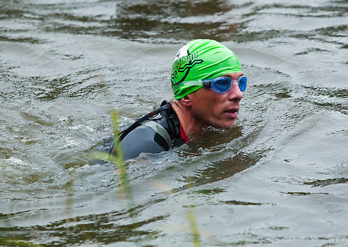 12 JUN 2011 - BRANSGORE, GBR - Gerry Duffy - Deca Enduroman day 10 - Enduroman Ultra Triathlon Championships .(PHOTO (C) NIGEL FARROW)