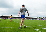 Dan Shanahan of Waterford shouts instructions to his team  during their Munster  championship round robin game at Cusack Park Photograph by John Kelly.