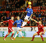 06.02.2019: Aberdeen v Rangers: Daniel Candeias wins the ball