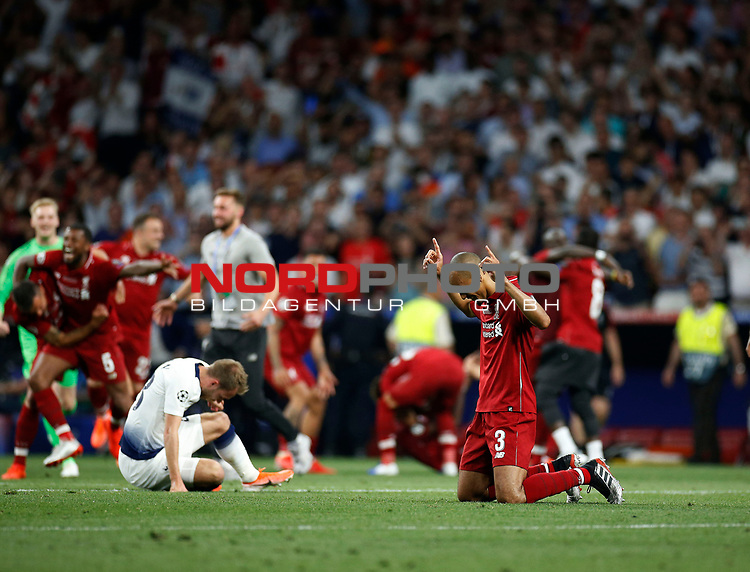 Liverpool's FC Fabinho Tavares during UEFA Champions League match, Final Roundl between Tottenham Hotspur FC and Liverpool FC at Wanda Metropolitano Stadium in Madrid, Spain. June 01, 2019.(Foto: nordphoto / Alterphoto /Manu R.B.)