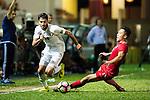 Musa Altmari of Jordan (L) fights for the ball with Lo Kong Wai of Hong Kong (R) during the International Friendly match between Hong Kong and Jordan at Mongkok Stadium on June 7, 2017 in Hong Kong, China. Photo by Cris Wong / Power Sport Images