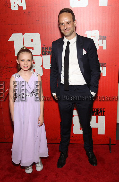 Willow McCarthy and Nick Mills attends the Broadway Opening Night Party for George Orwell's '1984' at The Lighthouse Pier 61 on June 22, 2017 in New York City.