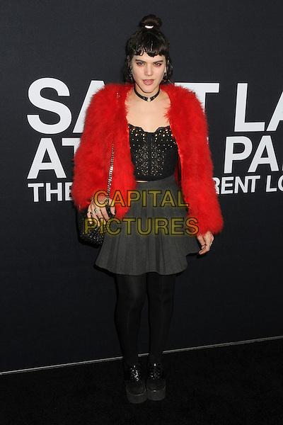 10 February 2016 - Los Angeles, California - SoKo, Stephanie Sokolinski. Saint Laurent At The Palladium held at the Hollywood Palladium. <br /> CAP/ADM/BP<br /> &copy;BP/ADM/Capital Pictures