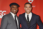 LOS ANGELES, CA - FEBRUARY 10: Musicians Booker T. Jones (L) and son Ted Jones attend MusiCares Person of the Year honoring Tom Petty at the Los Angeles Convention Center on February 10, 2017 in Los Angeles, California.