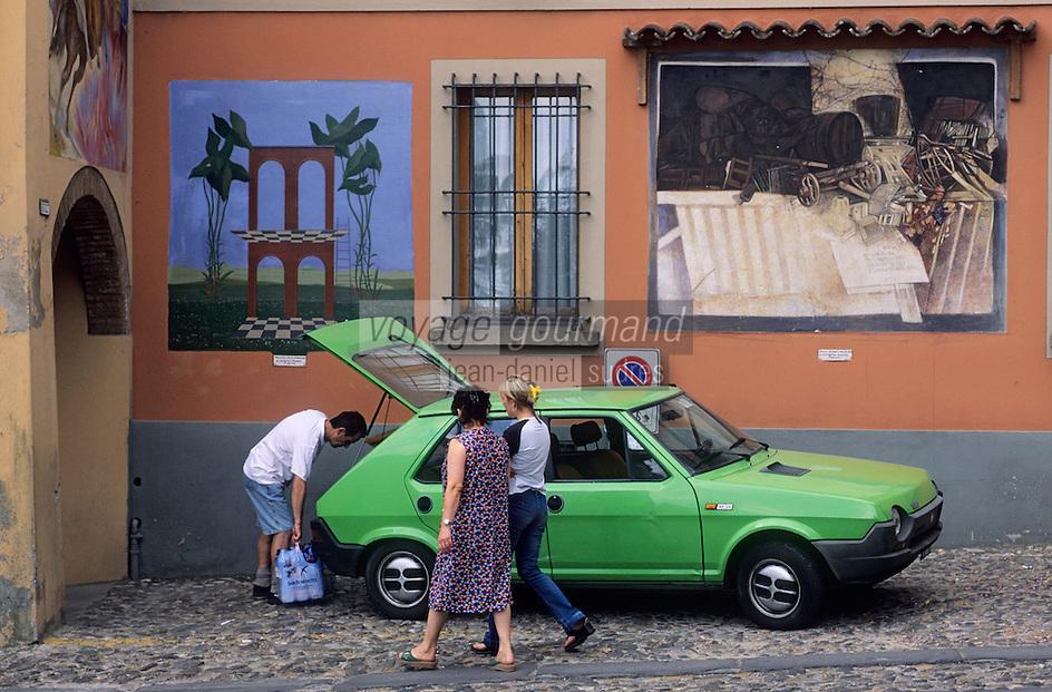 Europe/Italie/Emilie-Romagne/Dozza Imolese : Mur peint
