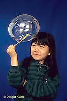 BH22-014x  Bubbles - girl making bubbles