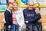 Seoidín and Fionnan Scanlon with grandparents Peggy and Matt Scanlon at the Grandparents Day in St Brendans NS in Blennerville on Friday.