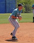 April 3, 2004:  Third baseman Lee Mitchell of the Florida Marlins organization during Spring Training at Dodgertown in Vero Beach, FL.  Photo copyright Mike Janes/Four Seam Images