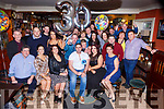 Seamus O'Connor Boolteens celebrates his 30th birthday with his family and friends in the ANvil bar on Saturday night