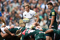 Chris Cook of Bath Rugby looks to put the ball into a scrum. Aviva Premiership match, between Leicester Tigers and Bath Rugby on September 3, 2017 at Welford Road in Leicester, England. Photo by: Patrick Khachfe / Onside Images