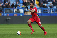 Jordan Ayew of Swansea City runs forward during The Emirates FA Cup Fifth Round match between Sheffield Wednesday and Swansea City at Hillsborough, Sheffield, England, UK. Saturday 17 February 2018