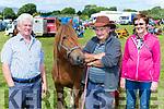 Willie Leahy Killarney, Tony Cronin Castlegregory and Mary Quirke Killarney at Puck Fair on Thursday
