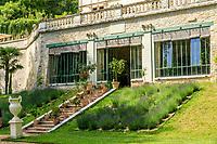 France, Indre-et-Loire (37), Amboise, château Gaillard, l'orangerie sous la terrasse, la première construite en France