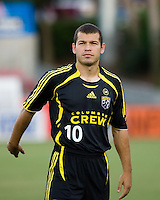 Columbus Crew forward Alejandro Moreno (10). The Houston Dynamo tied the Columbus Crew 1-1 in a regular season MLS match at Robertson Stadium in Houston, TX on August 25, 2007.
