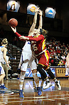 SIOUX FALLS MARCH 22:  Mikaela Burgess #15 from Pittsburg State scoops a shot past Bailly Cairnduff #34 from Grand Valley State during their quarterfinal game at the NCAA Women's Division II Elite 8 Tournament at the Sanford Pentagon in Sioux Falls, S.D. (Photo by Dave Eggen/Inertia)