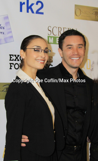 """As The World Turns Ewa Da Cruz, Guiding Light Tom Pelphrey star in the film and are at the premiere of """"Excuse Me For Living"""" on October 12, 2012 at AMC Loews Village 7, New York City, New York.  (Photo by Sue Coflin/Max Photos)"""