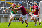 Kerry's Thomas Casey and Robbie Greville of Westmeath in the Allianz Hurling League Division 2A Final, Westmeath v Kerry. Gaelic Grounds, Limerick, Saturday 4th April 2015.