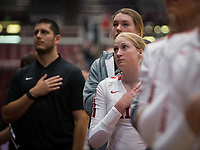Stanford, CA - November 1, 2019: Kate Formico at Maples Pavilion. The No. 5 Stanford Cardinal swept the Oregon State Beavers 3-0.
