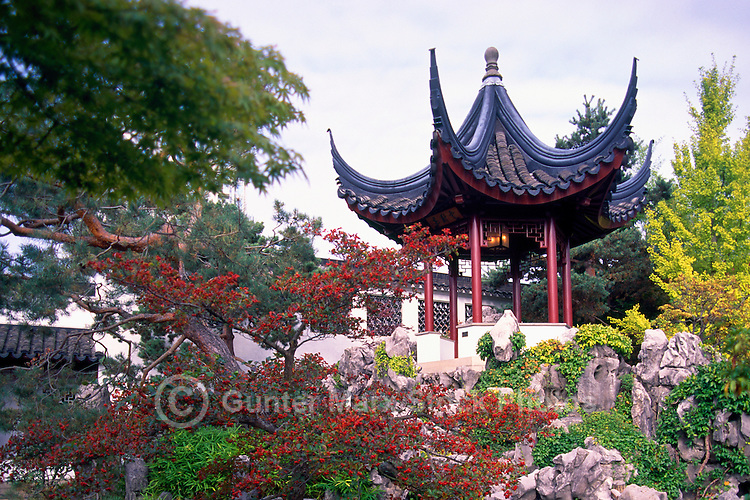 Dr. Sun Yat-Sen Classical Chinese Garden in Chinatown, Vancouver, BC, British Columbia, Canada - Chinese Pagoda