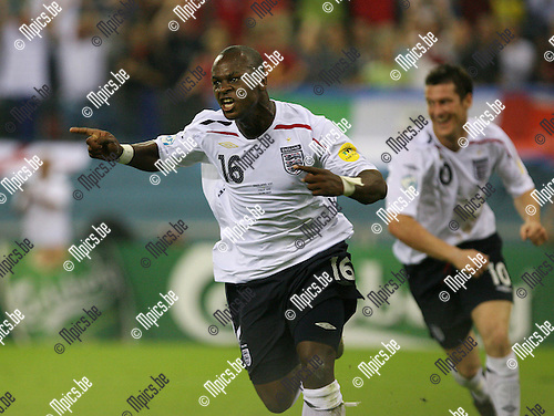 UEFA U21 Italy - England 14-06-2007..Leroy Lita (with David Nugent in the back) celebrates his goal (2-0).