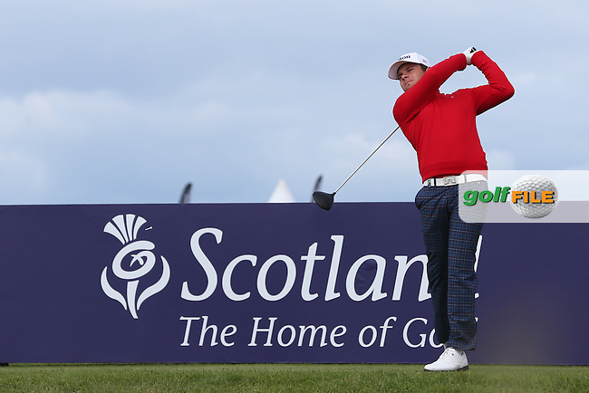 Tyrrell Hatton (ENG) during Round Three of the 2015 Aberdeen Asset Management Scottish Open, played at Gullane Golf Club, Gullane, East Lothian, Scotland. /11/07/2015/. Picture: Golffile | David Lloyd<br /> <br /> All photos usage must carry mandatory copyright credit (&copy; Golffile | David Lloyd)