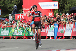 Alessandro De Marchi (ITA) BMC Racing Team wins Stage 11, the longest of this year's race, of the La Vuelta 2018, running 207.8km from Mombuey to Ribeira Sacra. Luintra, Spain. 5th September 2018.<br /> Picture: Unipublic/Photogomezsport | Cyclefile<br /> <br /> <br /> All photos usage must carry mandatory copyright credit (&copy; Cyclefile | Unipublic/Photogomezsport)