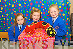 Rachel McCluskey, Gretta Fitzpatrick and Ella O'Sullivan pictured on their first day of school at presentation primary, Tralee on Thursday.