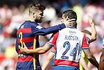 Granada's Ricardo Costa (r) and FC Barcelona's Gerard Pique during La Liga match. May 14,2016. (ALTERPHOTOS/Acero)