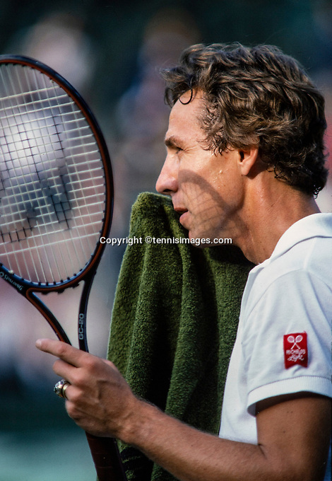 June 30, 1982, London, England, AELTC, All England Club, Wimbledon, Dick Stockton(USA) <br /> Photo: Tennisimages/Henk Koster