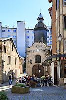 France, Haute-Vienne (87), Limoges, rue de la Boucherie et la chapelle Saint-Aurélien dans le quartier du Château // France, Haute Vienne, Limoges, Boucherie street and Saint Aurelien chapel in Chateau neighborhood