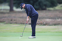 Shane Lowry (IRL) on the 12th green during Round 1of the Sky Sports British Masters at Walton Heath Golf Club in Tadworth, Surrey, England on Thursday 11th Oct 2018.<br /> Picture:  Thos Caffrey | Golffile<br /> <br /> All photo usage must carry mandatory copyright credit (© Golffile | Thos Caffrey)