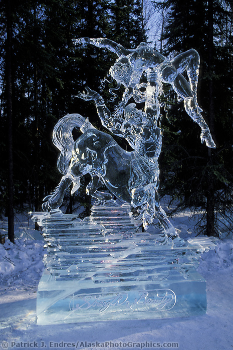 Strength and Beauty by Junichi Nakamura, World Ice Sculpting Competition, Fairbanks, Alaska