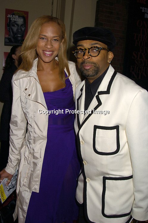 Tonya and Spike Lee ..at the Broadway Opening of Julius Caesar on April 3, 2005 at the Belasco Theatre. ..Photo by Robin Platzer, Twin Images