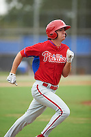 Philadelphia Phillies Mark Laird (24) during an instructional league game against the Toronto Blue Jays on September 28, 2015 at Englebert Complex in Dunedin, Florida.  (Mike Janes/Four Seam Images)