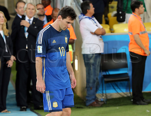 13.07.2014. Rio de Janeiro, Brazil. World Cup Final. Germany versus Argentina. Messi disappointed after the match ends