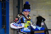 Linus Sundstrum of Poole Pirates during Poole Pirates vs Belle Vue Aces, Elite League Speedway at The Stadium on 11th April 2018