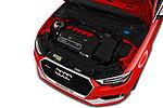 Car stock 2017 Audi RS 3 Base 4 Door Sedan engine high angle detail view