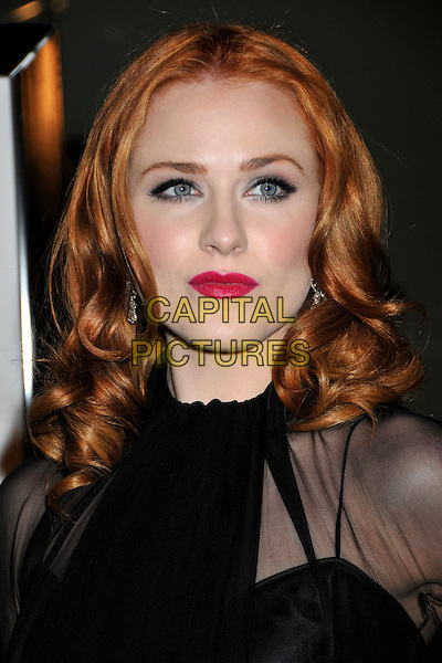 """EVAN RACHEL WOOD.""""Whatever Works"""" Los Angeles Premiere held at the Pacific Design Center, West Hollywood, CA, USA..June 8th, 2009.headshot portrait red lipstick black sheer .CAP/ADM/BP.©Byron Purvis/AdMedia/Capital Pictures."""