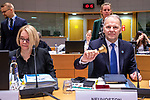 BRUSSELS - BELGIUM - 16 December 2019 -- Agriculture and Fisheries Council meeting - Presidency of Finland. -- Jari Leppä (ri), Minister of Agriculture and Forestry for Finland Minna Kivimäki The Ambassador of Finland to. Coreper1. -- PHOTO: Juha ROININEN / EUP-IMAGES