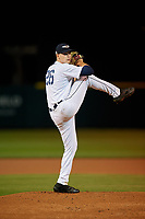 Lakeland Flying Tigers starting pitcher Tarik Skubal (26) during a Florida State League game against the Tampa Tarpons on April 5, 2019 at Publix Field at Joker Marchant Stadium in Lakeland, Florida.  Lakeland defeated Tampa 5-3.  (Mike Janes/Four Seam Images)