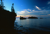 Sunrise from Caribou Island on Isle Royale National Park, Michigan on Lake Superior.