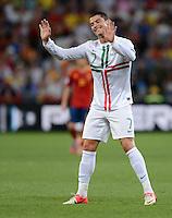 FUSSBALL  EUROPAMEISTERSCHAFT 2012   HALBFINALE Portugal - Spanien                  27.06.2012 Cristiano Ronaldo (Portugal)