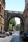 Farnese Archway across Via Giulia in the Parione district of Rome.