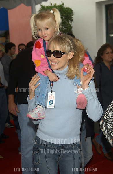 Actress CHYNNA PHILLIPS & daughter at the world premiere, in Hollywood, of Dr. Suess' The Cat in the Hat..November 8, 2003